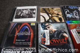 CD's, DVD's and 1 BluRay