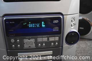 Working RCA 5 Disc Player, Radio plus 2 Speakers
