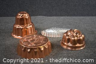 3 Copper Molds and More