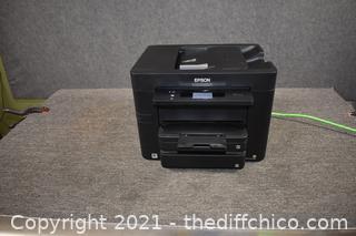 Epson WorkPro Printer-powers on