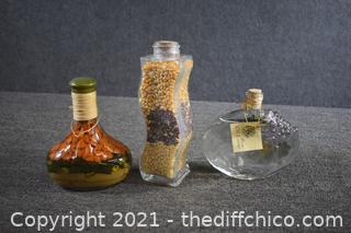 3 Decorative Bottles