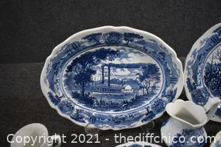 42 Pieces of America Hurrah Ironstone Dishes