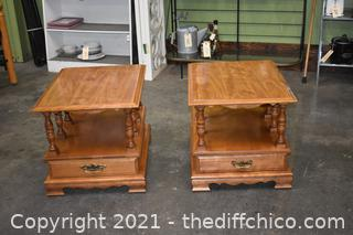 Pair of Maple End Tables
