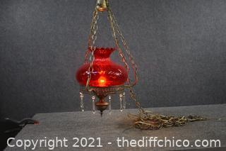 Vintage Red Hanging Lamp