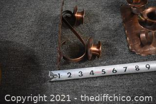 Solid Copper Candle Holders