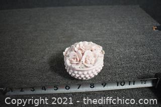 Vintage Pink Porcelain box