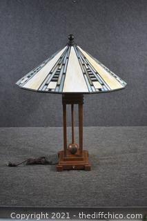 Working Stain Glass Lamp