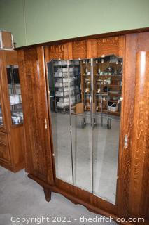 4 Door Vintage Armoire w/front mirrors