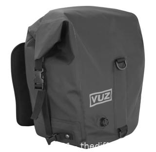 Vuz Moto 2 Piece Motorcycle Dry Saddlebags, Waterproof (J9)