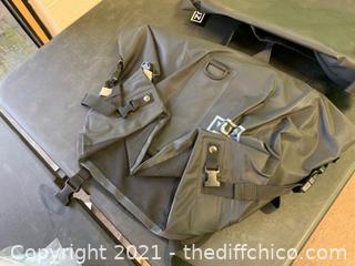 Vuz Moto 2 Piece Motorcycle Dry Saddlebags, Waterproof (J9)