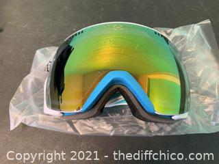 Winterial Ski and Snowboard Goggles, UV Protection, Teal (J11)