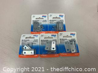 National Hard N146-053 V518 Hinges - 5 Packs (J16)