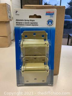 National Hardware N115-147 V126 Adjustable Spring Hinges - 2 Packs (J18)