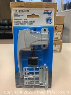 National Hardware N178-400 V1326 Pushbutton Latches - Qty 3 (J19)