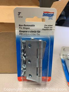National Hardware N146-373 518 Non-Removable Pin Hinges - 10 Packs (J21)