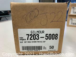 "Gilmour 7203-5008 5/8"" Male Stems - Qty 50 (J22)"