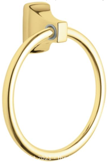 Moen Donner P5860PB Polished Brass Towel Ring (J63)