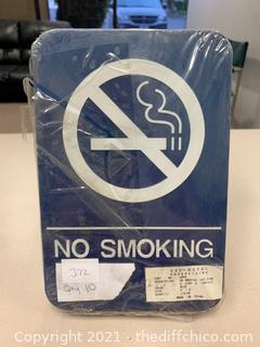 Blue No Smoking Signs - Pack of 10 (J72)