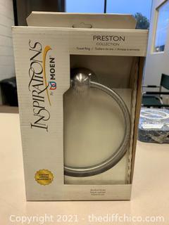 Moen Preston Towel Ring in Spot Resist Brushed Nickel (J73)
