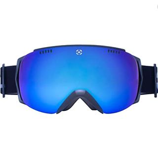 Winterial Ski and Snowboard Goggles, UV Protection, Black (J96)