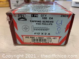 PFC #12 x 2A Pan Phillips Tapping Screws (J103)