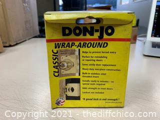 Don-Jo 51-S-CW Wrap Around Plate For Cylindrical Lock (J118)
