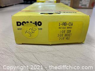 Don Jo 1-AB-CW Classic Wrap Around Plate in Polished Brass (J120)