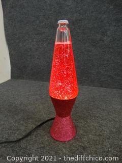 Working Pink Lava Lamp