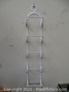White Metal MultiPurpose Wall Rack