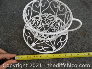 Large White Cup Decor