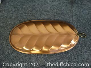 Copper Leaf Platter