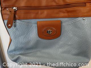 Rosetti Blue & Brown  Purse