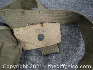 Military Canteen with Belt