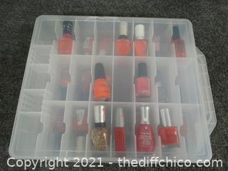 Case With Nail Polish