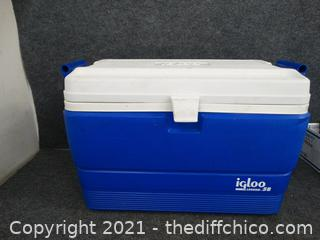 Igloo Blue & White Ice Chest
