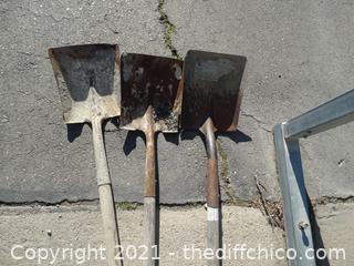 3 Square Head Shovels