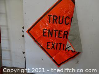 4 FT - Vinyl Road Construction Sign