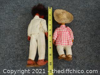 Vintage Mexican Folk Art Dolls
