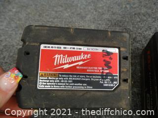 Milwaukee 18 Volt Batteries