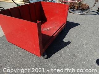Red Rolling Tool Cart