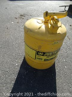 Yellow Safety Gas Can 5 Gallon