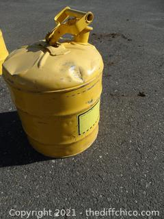 Yellow  Safety Gas Can 5 Gallons
