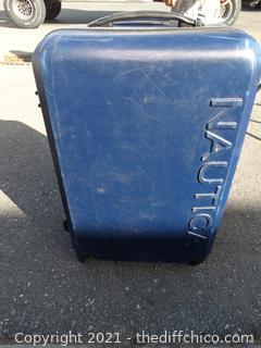 "Nautica Blue Hard Case Rolling Suitcase 8"" x 2 ft x 15"""