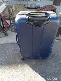 "Nautica Blue Hard Case Rolling Suitcase 8"" x 2 ft x 15"""