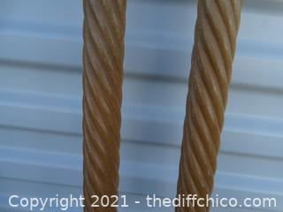 Wood Curtain Rods 6 ft Each