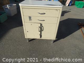 "Metal Cabinet  34"" x18"" x28"""