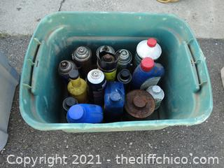 Green Tub Of Chemicals