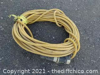 Yellow Extension Cord 100 FT