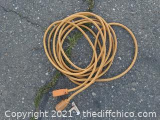 Yellow Extension Cord 20 FT