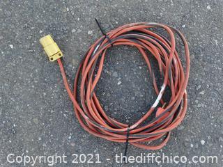 Orange & Black Extension Cord 25ft